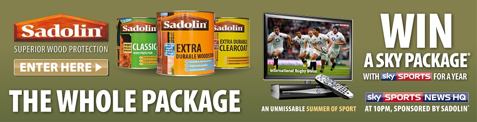 Win Sky for a year to celebrate Sadolin TV campaign